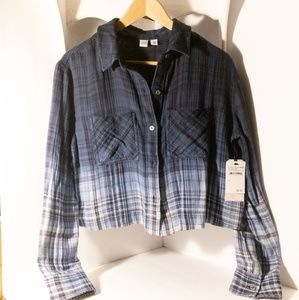 Plaid Short Waisted Flannel - NWT
